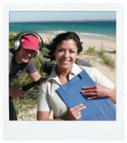 Selina Pederson at right, with Tony